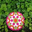 Textil mozaik matrica készlet -MANDALA V., Textil, A caraWonga mandalái egy olyan DIY készlet, mely öntapadós, színes textil mozaik darabkákat ta..., Alkotók boltja