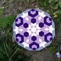 Textil mozaik matrica készlet- MANDALA VI., Textil, Mozaik, Mindenmás, A caraWonga mandalái egy olyan DIY készlet, mely öntapadós, színes textil mozaik darabkákat tartalm..., Alkotók boltja