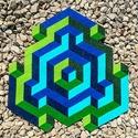 Textil mozaik matrica készlet - OP-ART I., Textil, Ragasztó, A caraWonga OP-ART egy olyan DIY készlet, mely öntapadós, színes textil mozaik darabkákat tartalmaz ..., Alkotók boltja