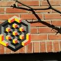 Textil mozaik matrica készlet- OP-ART II., Ragasztó, Textil, A caraWonga mandalái egy olyan DIY készlet, mely öntapadós, színes textil mozaik darabkákat tartalma..., Alkotók boltja