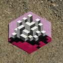 Textil mozaik matrica készlet - OP-ART III., Ragasztó, Textil, Mozaik, Mindenmás, A caraWonga mandalái egy olyan DIY készlet, mely öntapadós, színes textil mozaik darabkákat tartalm..., Alkotók boltja