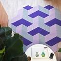 PUZZLE SZŐNYEG - SPACE 3D LILA, DIY (leírások), Textil, rendelésre készül, elkészítési idő: ~5 nap A termék a képen láthatóval teljesen azonos le..., Alkotók boltja