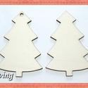 Fa karácsonyfa - 4 db - 80 Ft/db, Dekorációs kellékek, Fa, Fából készült natúr fa karácsonyfa. Az ár 4 db-ra együtt értendő.  Méretek: 7.5 x 4.5 cm, Alkotók boltja