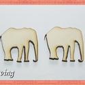 Fa elefánt - 10 db - 30 Ft/db, Dekorációs kellékek, Fa, Fából készült natúr fa bárányok. Az ár 10 db-ra értendő. Mérete: 3 x 2.8 cm, Alkotók boltja