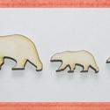 Fa jegesmedve - 25 db -három méretben 12 Ft/db, Dekorációs kellékek, Fa, Fából készült natúr fa jegesmedvék. Az ár 25 db-ra értendő (10 db kicsi, 10 db közepes és 5 db nagy)..., Alkotók boltja