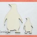 Fa pingvin - 15 db - két méretben 20 Ft/db , Dekorációs kellékek, Fa, Famegmunkálás, Fából készült natúr fa pingvinek. Az ár 15 db-ra értendő (10 db kicsi,  5 db nagy). Mérete: 5 x 3.5..., Alkotók boltja