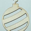"""Fa karácsonyi dísz """"gömb""""  cm 60 Ft/db, Dekorációs kellékek, Fa, Fából készült natúr dísz. Az ár 5 db-ra együtt értendő.  Mérete: 6 cm  Kérésre egyedi i..., Alkotók boltja"""