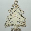 Fa karácsonyi natúr karácsonyfa 6 cm 150 Ft/db, Dekorációs kellékek, Fa, Famegmunkálás, Fából készült natúr dísz. Az ár 2 db-ra együtt értendő.  Mérete: 6 cm  Kérésre egyedi igény szerint..., Alkotók boltja