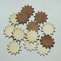Fa csillagok 2 cm 15 Ft/db, Dekorációs kellékek, Fa, Fából készült csillagok. Az ár 20 db-ra együtt értendő, sötét és világos csillagok.  Mérete: 2 cm  K..., Alkotók boltja