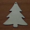 Fa natúr karácsonyfa - 5 db - 100 Ft/db, Dekorációs kellékek, Fa, Fából készült natúr karácsonyfa. Az ár 5 db-ra együtt értendő.  Mérete: 5 cm, Alkotók boltja