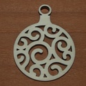 Fa natúr karácsonyi gömb - 2 db - 150 Ft/db, Dekorációs kellékek, Fa, Fából készült natúr karácsonyfadísz. Az ár 2 db-ra együtt értendő.  Mérete: 5 cm, Alkotók boltja