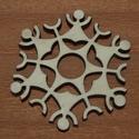 Fa hópihe - 4 db - 100 Ft/db, Dekorációs kellékek, Fa, Fából készült natúr fa hópihe. Az ár 4 db-ra együtt értendő.  Mérete: 5 cm, Alkotók boltja