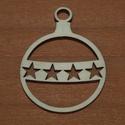 Fa natúr karácsonyi gömb - 2 db - 150 Ft/db, Dekorációs kellékek, Fa, Fából készült natúr karácsonyfadísz. Az ár 2 db-ra együtt értendő.  Mérete: 5 cm  Kéré..., Alkotók boltja