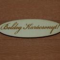 Fa 'Boldog Karácsonyt!' 5 cm 100 Ft/db, Dekorációs kellékek, Fa, Fából készült natúr dísz. Az ár 3 db-ra együtt értendő.  Mérete: 5 cm  Kérésre egyedi i..., Alkotók boltja