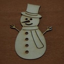 Fa natúr hóember - 2 db - 180 Ft/db, Dekorációs kellékek, Fa, Fából készült natúr hóember. Az ár 2 db-ra együtt értendő.  Mérete: 8 cm  Kérésre tetsz..., Alkotók boltja