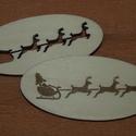 Fa natúr karácsonyi dekor - 2 db - 150 Ft/db, Dekorációs kellékek, Fa, Famegmunkálás, Fából készült natúr karácsonyi dekor. Az ár 2 db-ra együtt értendő.  Mérete: 6 cm  Kérésre tetszőle..., Alkotók boltja