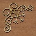 Sarok elem sarok dísz dekor -  150 Ft/db különböző minták, Dekorációs kellékek, Fa, Fából készült natúr sarok dekor.  Mérete: 5 cm  Kérésre tetszőleges méretben is elkészíthető...., Alkotók boltja