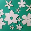 Fa virágok dekor alap több méretben 4-15 cm 11 db , Dekorációs kellékek, Fa, Fából készült natúr, festhető, színezhető, ragasztható, kezeletlen, fa virág alapok. Az á..., Alkotók boltja