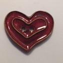 Szīv gomb, Gomb, Kerámia gomb, 4 darab szīv keråmia gombot készítettem vörös agyagból és szép pirosra mázaztam őket.   V..., Alkotók boltja