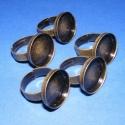 Gyűrű alap (8. minta/5 db), Gyöngy, ékszerkellék, Egyéb alkatrész, Gyűrű alap (8. minta) - ragasztható - antik bronz színben  Mérete: karika átmérő: 17 mm; szélessége:..., Alkotók boltja