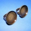 Gyűrű alap (2. minta/2 db), Gyöngy, ékszerkellék, Egyéb alkatrész, Gyűrű alap (2. minta) - ragasztható - antik bronz  Mérete: a karika átmérő 17 mm; szélessége 5 mm A ..., Alkotók boltja