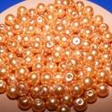 Viaszgyöngy 8mm(narancs), Gyöngy, ékszerkellék, Üveggyöngy, Alkotók boltja