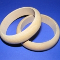 Fa karperec alap (73x20 mm/2 db), Gyöngy, ékszerkellék, Egyéb alkatrész, Fa karperc alap - natúr kivitelben  Mérete: 20 mm (szélesség) x 73 mm (belső átmérő)  Az ár..., Alkotók boltja