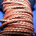 Fonott bőrszíj - 6 mm (3. minta/0,5 m) - barna/világosbarna, Gyöngy, ékszerkellék, Egyéb alkatrész, Ékszerkészítés, Mindenmás, Fonott bőrszíj - 6 mm (3. minta/0,5 m) - barna/világosbarna  Valódi bőr alapanyagból készült fonott..., Alkotók boltja