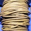 Fonott bőrszíj - 2,5 mm (8. minta/0,5 m) - khaki, Gyöngy, ékszerkellék, Egyéb alkatrész, Ékszerkészítés, Mindenmás, Fonott bőrszíj (8. minta) - khaki  Valódi bőr alapanyagból készült fonott, hengeres szíj. Átmérője:..., Alkotók boltja