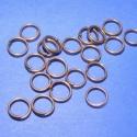 Szerelőkarika (1009. minta/20 db), Szerelőkarika (1009. minta) - dupla - vörösréz színben  Mérete: 7 mm Az ár 20 db termékre vo..., Alkotók boltja