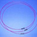 Sodrony nyaklánc alap (10. minta/3 db) - lila, Gyöngy, ékszerkellék, Egyéb alkatrész, Sodrony nyaklánc alap (10. minta) - lila  Sodrony (tigrisbajusz) nyaklánc alap: szerelt, praktikus..., Alkotók boltja