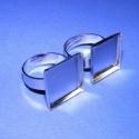 Gyűrű alap (48. minta/2 db), Gyöngy, ékszerkellék, Egyéb alkatrész, Gyűrű alap (48. minta) - ragasztható - szögletes - nikkel színben  A tárcsa átmérője: 17x17 mm A per..., Alkotók boltja