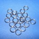 Nemesacél szerelőkarika (STAS-16/A minta/10 db) - 7x1 mm, Nemesacél szerelőkarika - STAS-16/A - dupla Nemesacél (304 Stainless Steel) termék  Mérete: 7x1 mm A..., Alkotók boltja