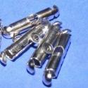 Csomórejtő/végzáró - 5 soros (326. minta/4 db), Végzáró (326. minta) vagy más néven 5 soros csomórejtő  - nikkel színben  Mérete: 17x4 mm  ..., Alkotók boltja