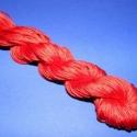 Színes zsinór - 1 mm (ZS2. minta/24 m) - piros, Fonal, cérna, Ékszerkészítés, Kötés, horgolás, Színes zsinór (ZS2. minta) - piros  Mérete: 1 mm/24 m  Hasonlít a viaszos szálhoz, csak attól puháb..., Alkotók boltja