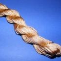 Színes zsinór - 1 mm (ZS19. minta/24 m) - aranybarna, Fonal, cérna, Ékszerkészítés, Kötés, horgolás, Színes zsinór (ZS19. minta) - aranybarna  Mérete: 1 mm/24 m  Hasonlít a viaszos szálhoz, csak attól..., Alkotók boltja