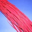 Bőrutánzat zsinór (ZS61/5 db) - piros, Fonal, cérna, Ékszerkészítés, Kötés, horgolás, Bőrutánzat zsinór (ZS61) - piros  Mérete: 3x1 mm/1 m Nyakbavaló alapnak, fonási technikákhoz ajánlo..., Alkotók boltja