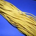 Bőrutánzat zsinór (ZS64/5 db) - sárga, Fonal, cérna, Ékszerkészítés, Kötés, horgolás, Bőrutánzat zsinór (ZS64) - sárga  Mérete: 3x1 mm/1 m Nyakbavaló alapnak, fonási technikákhoz ajánlo..., Alkotók boltja