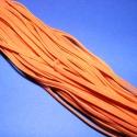Bőrutánzat zsinór (ZS65/5 db) - narancssárga, Fonal, cérna, Ékszerkészítés, Kötés, horgolás, Bőrutánzat zsinór (ZS65) - narancssárga  Mérete: 3x1 mm/1 m Nyakbavaló alapnak, fonási technikákhoz..., Alkotók boltja