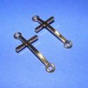Köztes(626/A.minta /2db), Gyöngy, ékszerkellék, Egyéb alkatrész, Arany színű köztes kereszt(626/A.minta /2db) Mérete 39x17x2mm. Az ár 2db termékre vonatkozik., Alkotók boltja
