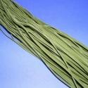 Bőrutánzat zsinór (ZS73/5 db) - oliva, Fonal, cérna, Bőrutánzat zsinór (ZS73) - oliva  Mérete: 3x1 mm/1 m Nyakbavaló alapnak, fonási technikákhoz ajánlot..., Alkotók boltja