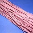 Bőrutánzat zsinór (ZS76/5 db) - rózsaszín, Fonal, cérna, Ékszerkészítés, Kötés, horgolás, Bőrutánzat zsinór (ZS76) - rózsaszín  Mérete: 3x1 mm/1 m Nyakbavaló alapnak, fonási technikákhoz aj..., Alkotók boltja