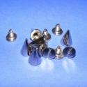 Fém szegecs (4. minta/6 pár) - kúp, , Mindenmás, Fém szegecs (4. minta) - kúp - nikkel színben  Mérete: 10x7 mm  Az ár 6 pár szegecsre vonatkozik., Alkotók boltja