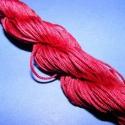 Színes zsinór - 1 mm (ZS8. minta/24 m) - bordó, Fonal, cérna, Ékszerkészítés, Kötés, horgolás, Színes zsinór (ZS8. minta) - bordó  Mérete: 1 mm/24 m  Hasonlít a viaszos szálhoz, csak attól puháb..., Alkotók boltja