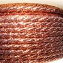 Sodrott zsinór - 3 mm (ZS103/2 m) - réz, Fonal, cérna, Sodrott zsinór (ZS103) - lurex réz  Színes nylon sodrott zsinór Ajánlott karkötők, nyaklánco..., Alkotók boltja
