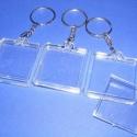 Plexi kulcstartó (1. minta/3 db) - négyzet, , Mindenmás, Kulcstartó (1. minta) - plexi - négyzet  A kulcstartóba fotó, kép vagy egyéb dekoráció tehető.  Mér..., Alkotók boltja