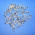 Szemes csavar (1061/A minta/50 db) - 4x10 mm, Gyöngy, ékszerkellék, Gyurma, Ékszerkészítés, Gyurma, Szerelékek, Szemes csavar (1061/A minta) - nikkel színben  A terméket elsősorban süthető gyurma ékszerekhez ajá..., Alkotók boltja