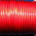 Viaszos zsinór - 3 mm (ZS35. minta/1 m) - piros, Fonal, cérna, Kötés, horgolás, Ékszerkészítés, Viaszos zsinór (ZS35. minta) - piros  Nyakbavaló alap, karkötő alap alapanyaga. Fonáshoz, de bármil..., Alkotók boltja