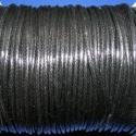 Viaszos zsinór - 2 mm (ZS40. minta/2 m) - fekete, Fonal, cérna, Kötés, horgolás, Ékszerkészítés, Viaszos zsinór (ZS40. minta) - fekete  Nyakbavaló alap, karkötő alap alapanyaga. Fonáshoz, de bármi..., Alkotók boltja