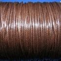 Viaszos zsinór - 2 mm (ZS43. minta/2 m) - sötétbarna, Fonal, cérna, Kötés, horgolás, Ékszerkészítés, Viaszos zsinór (ZS43. minta) - sötétbarna  Nyakbavaló alap, karkötő alap alapanyaga. Fonáshoz, de b..., Alkotók boltja